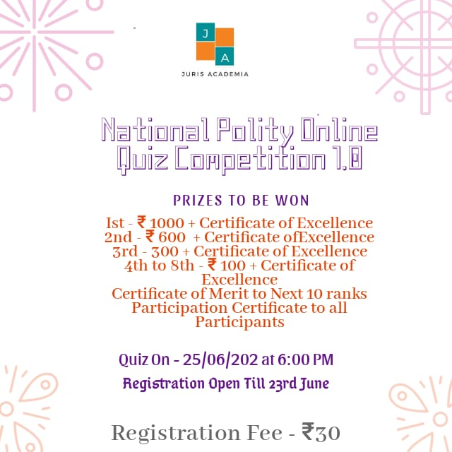 National Polity Online Quiz Competition 1.0 - Juris Academia